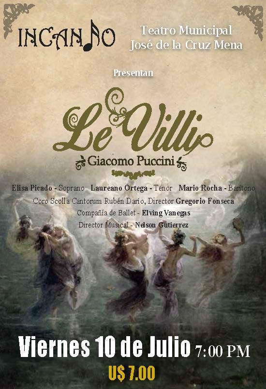 09 de Septiembre 2015 - Le Villi en el Teatro José de la Cruz Mena